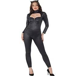 Women's Cat Suit Costume - for Halloween, Costume Party Accessory - Black