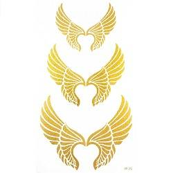 Spestyle the best temporary tattoos product  Angel wings Gold golden fake temporary tattoo stickers